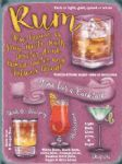 Rum & Cocktail Picture Metal Sign Wall Plaque 15X20cm Artwork